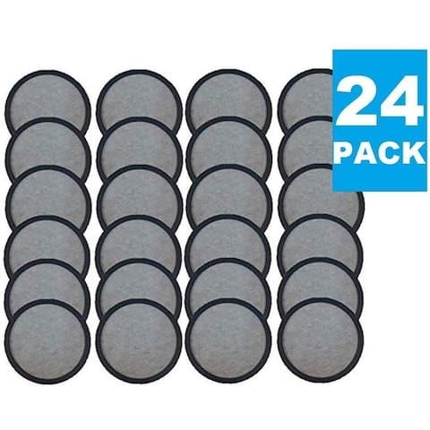 Premium Replacement Charcoal Water Filter Disks for All Mr. Coffee Makers & Machines, Replaces Mr Carbon Filter Disc - 24 Pack