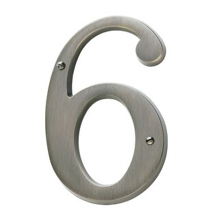 Baldwin 90676 Solid Brass Residential House Number 6