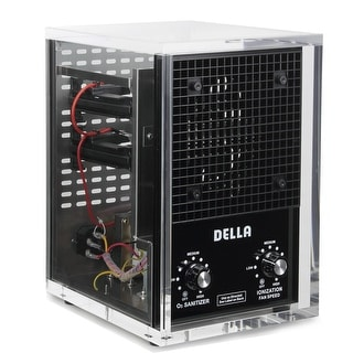 Della UV Ozone Generator Air Purifier Fresh Cleaner Hepa Covers 3500ft, Clear Acrylic