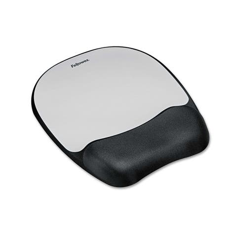 Fellowes, Inc. FLW9175801G Fellowes Memory foam Mouse Pad/Wrist Rest