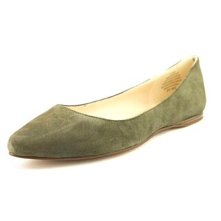 Nine West Speak Up Women Pointed Toe Suede Green Flats