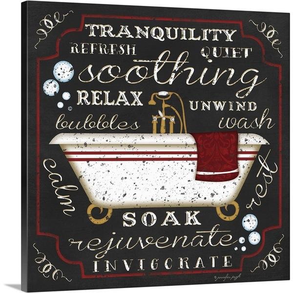 """""""Bath I Black"""" Canvas Wall Art"""