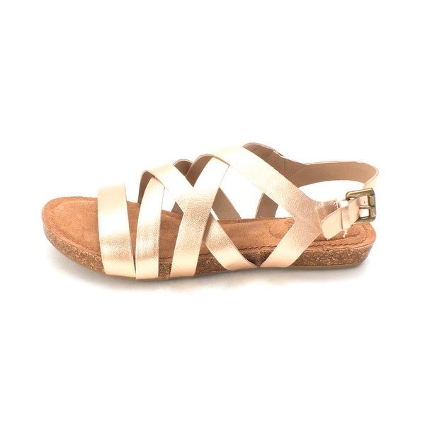 Adam Tucker Womens Nickie-5 Leather Open Toe Casual Strappy Sandals - 8