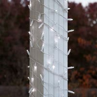 Wintergreen Lighting 71311 150 Bulb 6in x 15ft LED Decorative Holiday Net Light with White Wire