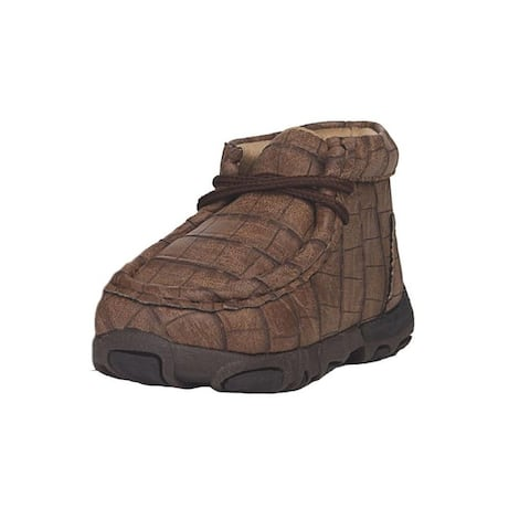 Twister Casual Shoes Boys Ramsey Chukka Gator Print Brown