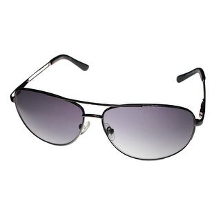 Kenneth Cole Reaction Mens Sunglasses Silver Purple Lens Metal Aviator 1069 753 - Medium