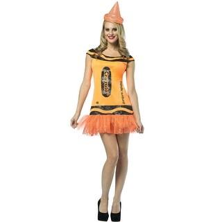 Rasta Imposta Crayola Glitz and Glitter Orange Dress Adult Costume - Solid - 4-10