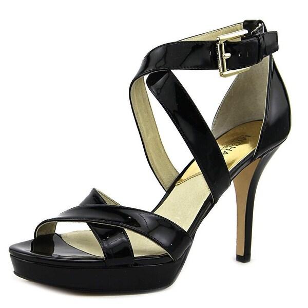 Michael Michael Kors Evie Platform Women Patent Leather Black Platform Heel