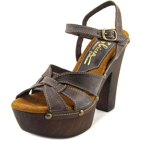 Sbicca Olympia Women  Open Toe Leather Brown Platform Sandal