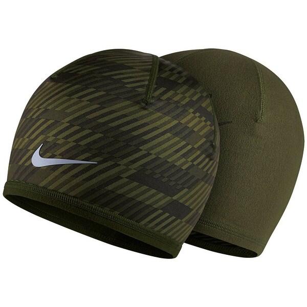 Nike NEW Green Mens Womens Unisex One Size Cargo Run Fleece Hazzard Beanie cc773df2e430