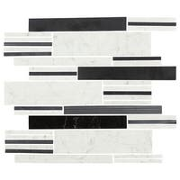 Daltile MMODLINMSL Marble Collection - Random Linear Mosaic Multi-Surface Tile - Varied Marble Visual