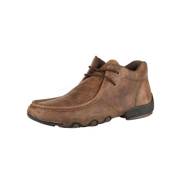 Roper Western Shoes Mens High Cruiser Chukka Brown