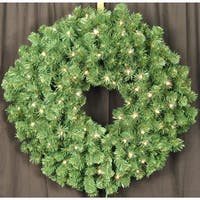 Christmas at Winterland WL-GWSQ-03-LWW 3 Foot Pre-Lit Warm White LED Sequoia Wreath - Warm White - N/A