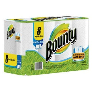 Bounty 80239709 Select-A-Size Perforated Roll Towels, Package of 8 Rolls