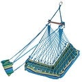 Sunnydaze Hanging Soft Cushioned Hammock Chair with Footrest & C-Stand - Thumbnail 5