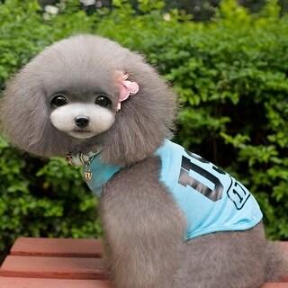 New Cute Summer Dog Clothes Cotton Pet Apparel Costumes Dog Vest T Shirt Coat