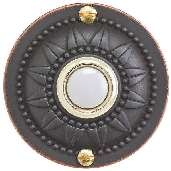 Carlon DH1657L Wired Round Doorbell Button, Oil Rubbed Bronze