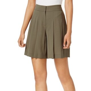 Nine West NEW Green Loden Pleated Crepe Women's Size 4 Casual Shorts
