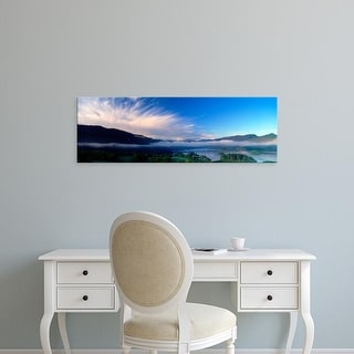 Easy Art Prints Panoramic Image 'Mountains, Derwent Water, Lake District, Cumbria, England, United Kingdom' Canvas Art