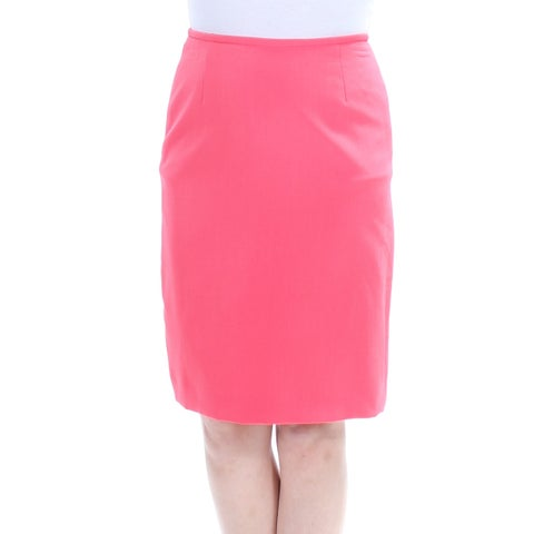 Womens Coral Wear To Work Skirt Size 0