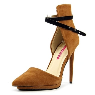C Label Diya-2A Women Pointed Toe Synthetic Brown Heels