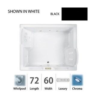"""Jacuzzi FUZ7260 WCR 4CH 72"""" x 60"""" Fuzion Drop In Luxury Whirlpool Bathtub with 15 Jets, Luxury Controls, Chromatherapy, Heater,"""