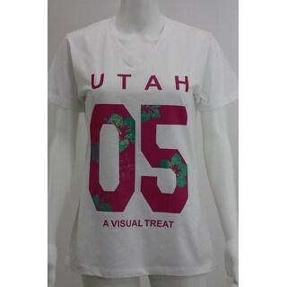 Utah White V neck tees