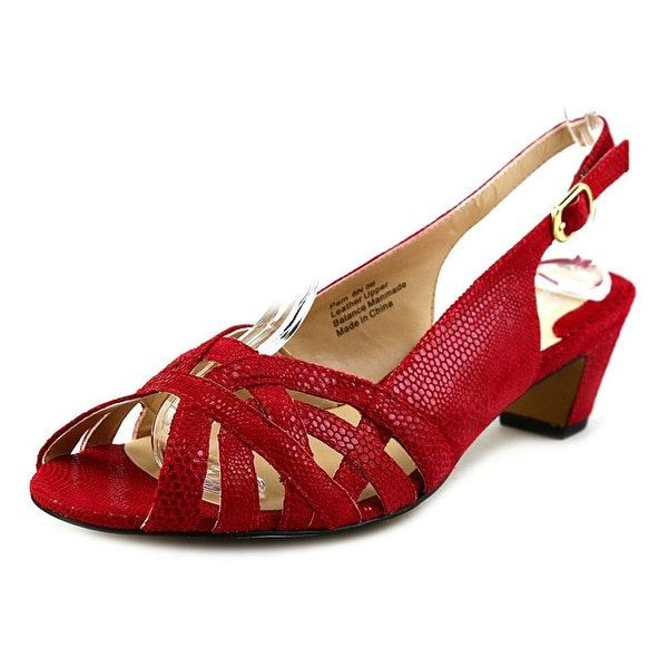 Ros Hommerson Pam Open-Toe Leather Slingback Heel