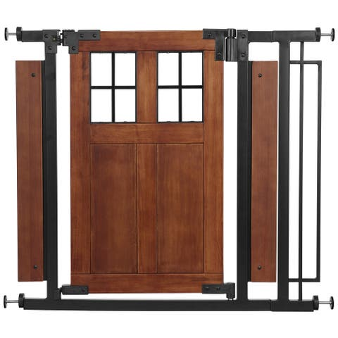 Barn Door Walk-Thru Gate, Farmhouse Collection - Brown