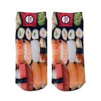 Sushi Photo Print Ankle Socks - Orange