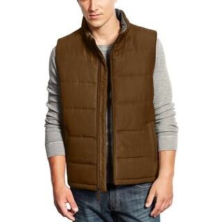 Weatherproof Vintage 1948 Zip Up Insulated Puffer Vest Dark Brown Small S