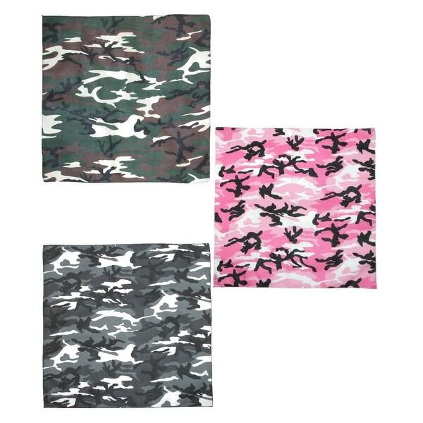 CTM® Urban Hunting Camouflage Bandanas (Pack of 3)
