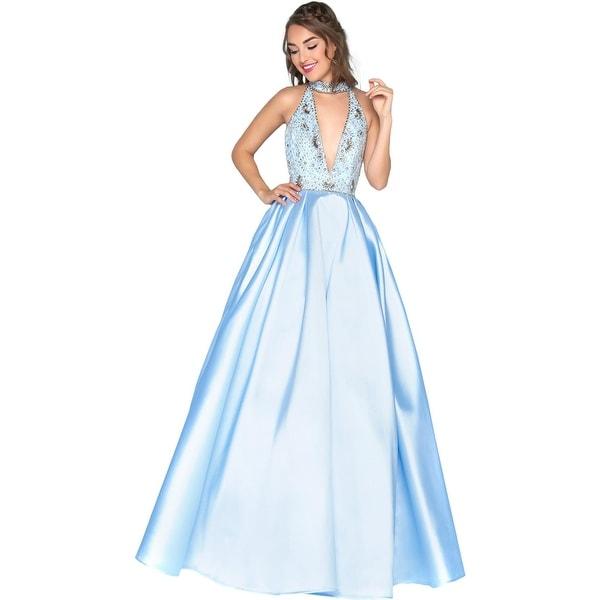 Mac Duggal Womens Evening Dress Prom Embellished