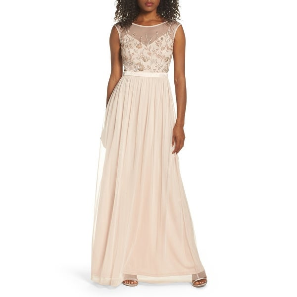 Adrianna Papell Women's Dress Beaded Mesh Gown. Opens flyout.