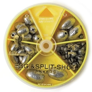 Eagle Claw Egg and Split-Shot Sinkers Dial Pack