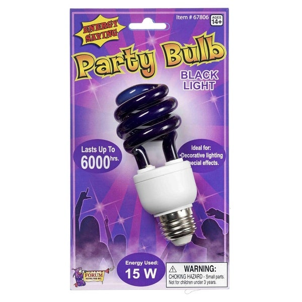 Black Light Energy Bulb Decoration Prop