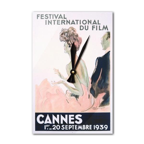 Cannes Festival International Film Domergue 1939 (Acrylic Wall Clock) - acrylic wall clock