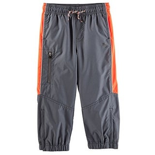 OshKosh B'gosh Baby Boys' Mesh-Lined Active Pants, Stripe - 6 Months - Grey