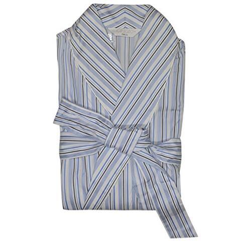 Grigio Perla Blue Striped Robe