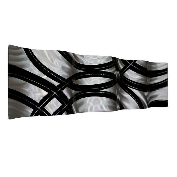 Shop Statements2000 Black/Silver Abstract Metal Wall Art Accent ...