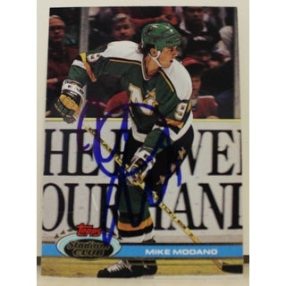 Mike Modano Minnesota North Stars Autographed 1991-92 Stadium Club Card