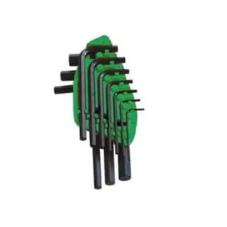 Mintcraft TW-050-03 Short Arm Hex Key Set Met, 10 Pieces