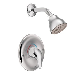 Moen L2352  Single Handle Posi-Temp Pressure Balanced Shower Trim with Shower Head from the Chateau Collection (Valve Included)
