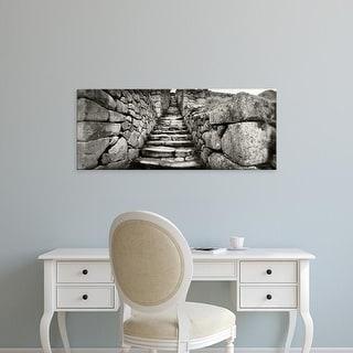 Easy Art Prints Panoramic Image 'Ruins at archaeological site, Inca Ruins, Machu Picchu, Cusco Region, Peru' Canvas Art