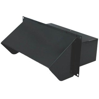 "Air King WC310B Range Hood Steel Wall Cap, Black, 3.25""x10"""
