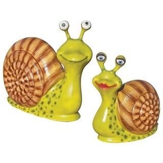 Design Toscano Madame & Monsieur Escargot, Enormous Garden Snail Statue Set