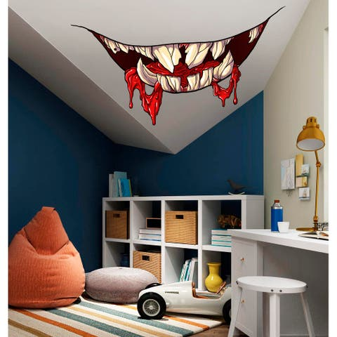 Devil Smile Decal, Devil Smile Sticker, Halloween Decor, Halloween Wall Sticker