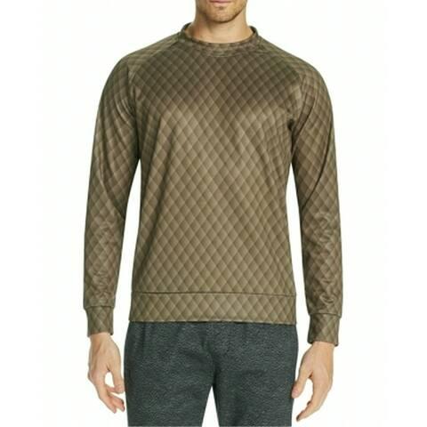 Tallia Mens Sweatshirt Small Diamond Pullover Mock Neck