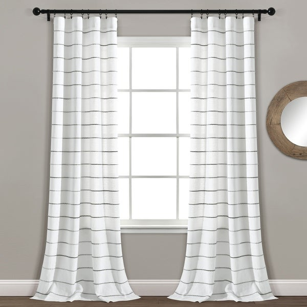 Carson Carrington Pajebo Ombre Stripe Cotton Curtain Panel Pair. Opens flyout.