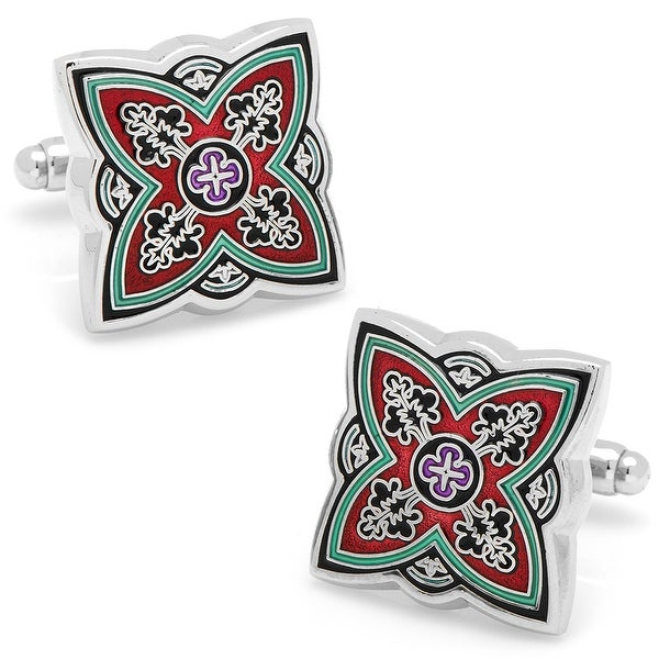 Red Spanish Bloom Cufflinks